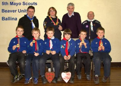 Willie Creighton with 5th Mayo Scouts Unit