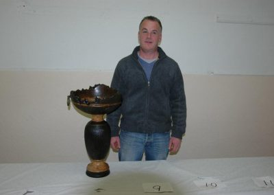 Chris Sweeney with his prize bowl from IWG 2011