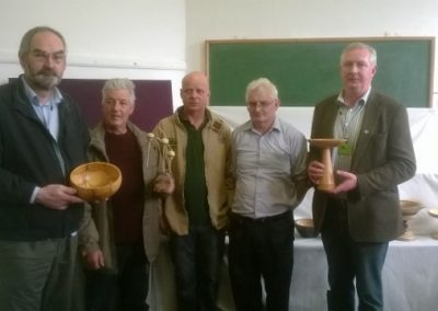 Prize winners with judges, Pat, Paul, Andy, Ambrose & Martin