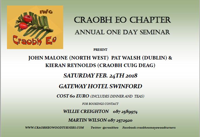 Craobh Eo 2018 annual seminar poster